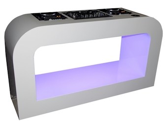 white LED DJ booth klein